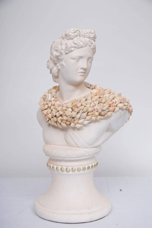 American Shell Encrusted Composition Bust For Sale