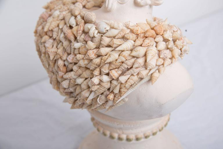 Contemporary Shell Encrusted Composition Bust For Sale