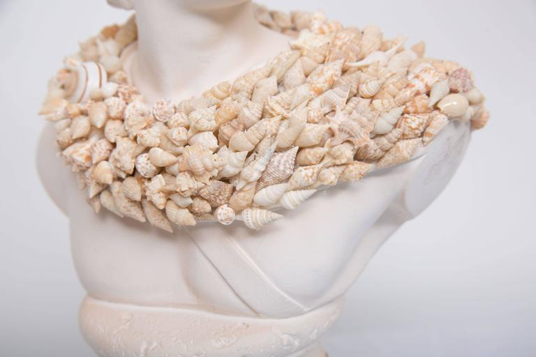 Shell Encrusted Composition Bust For Sale 1