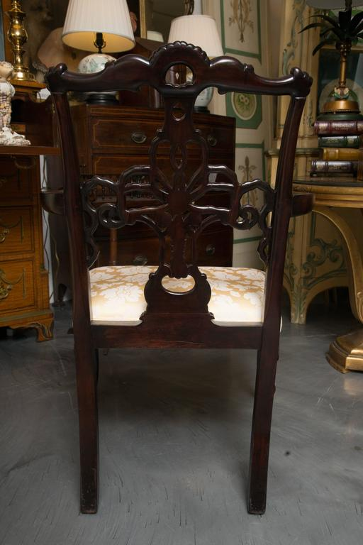 Pair of 19th Century English Ribbon Back Armchairs For Sale 2