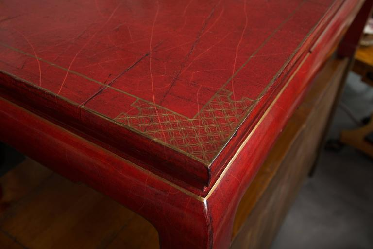 Chinese Export Red-Lacquered Coffee Table For Sale