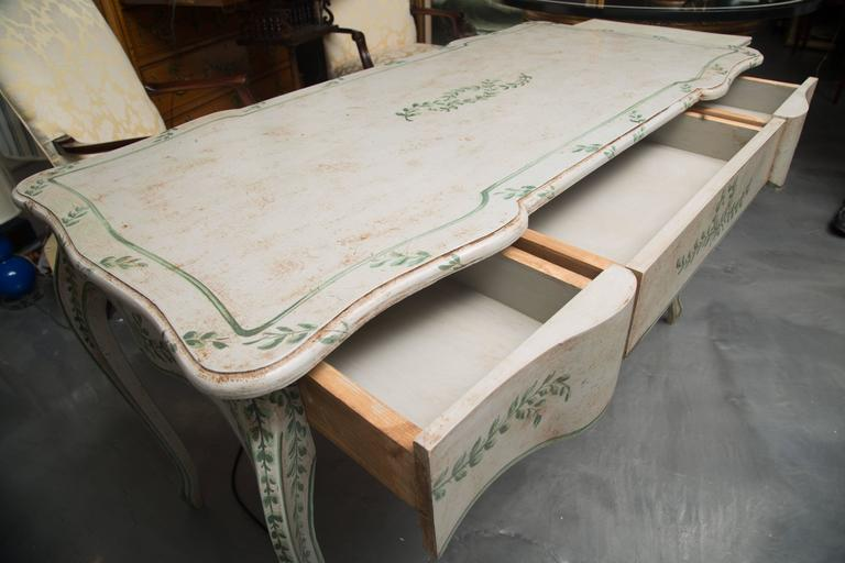 Louis XV Style Painted Writing Table 3