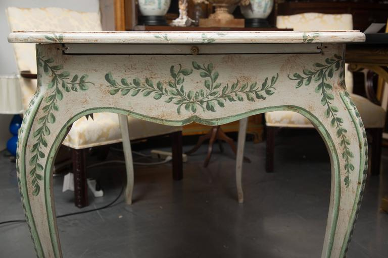 Louis XV Style Painted Writing Table 6