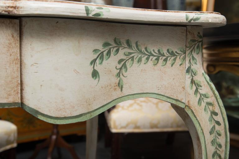 Louis XV Style Painted Writing Table 5