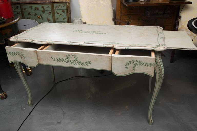 Louis XV Style Painted Writing Table 9