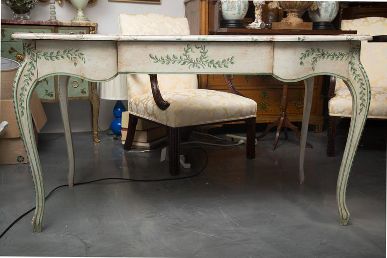 Louis XV Style Painted Writing Table 7