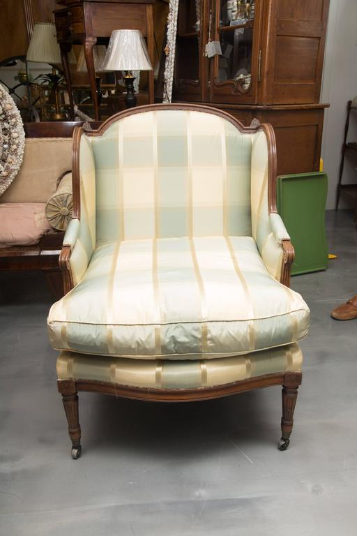 louis xvi style upholstered chaise at 1stdibs. Black Bedroom Furniture Sets. Home Design Ideas