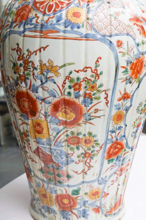 Pair of Chinese Palace Lidded Imari Urns 6