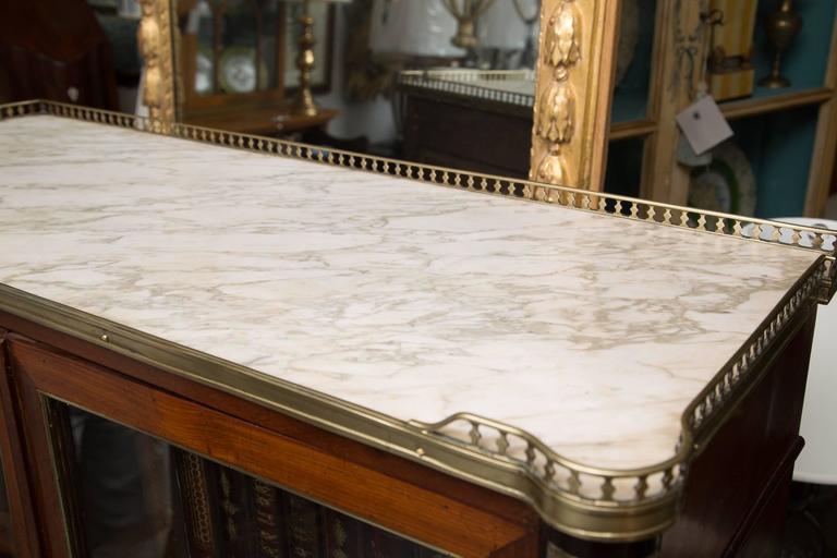 19th Century, Louis XVI Style Mahogany Bookcase 3