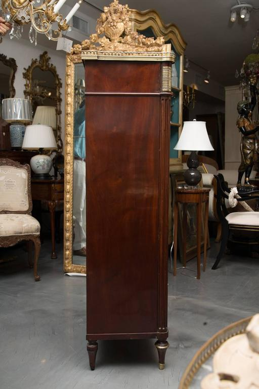 Polished 19th Century, Louis XVI Style Mahogany Bookcase For Sale