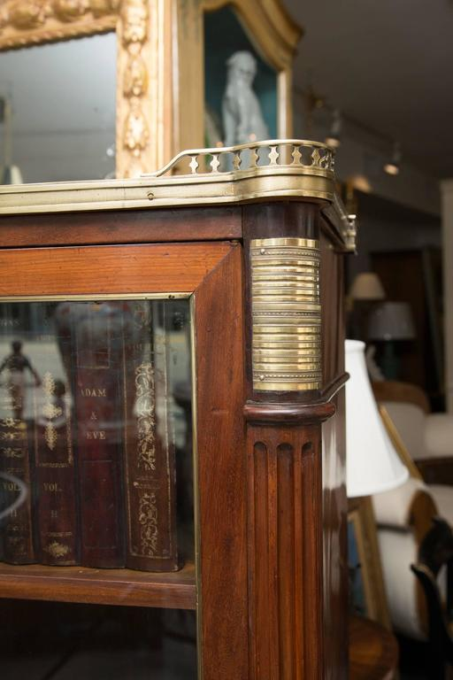 19th Century, Louis XVI Style Mahogany Bookcase In Good Condition For Sale In WEST PALM BEACH, FL