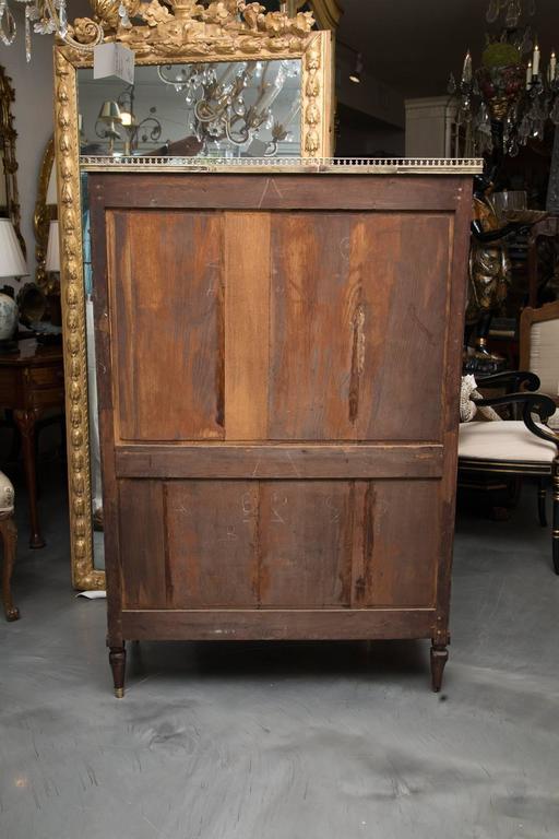 19th Century, Louis XVI Style Mahogany Bookcase For Sale 2