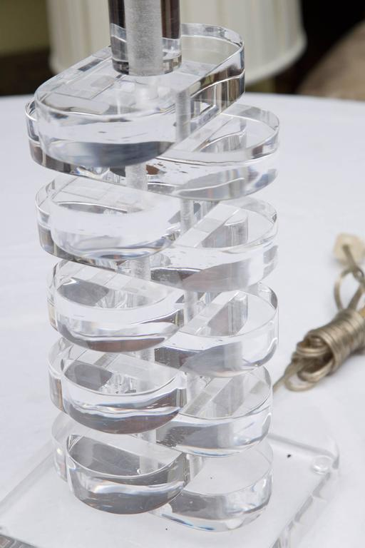 Lucite Multi-Tiered Table Lamp 6