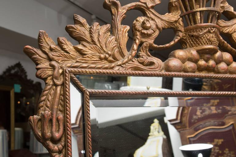 Italian Wall Mirror with Balloon Motif For Sale