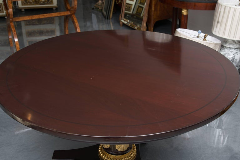 Wood Mahogany Regency Style Center Table For Sale