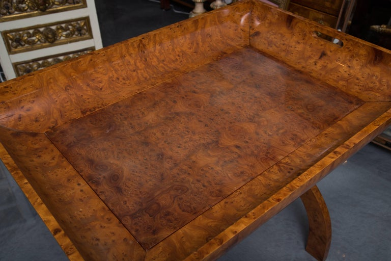 Amboyna Wood Tray on Stand For Sale 1