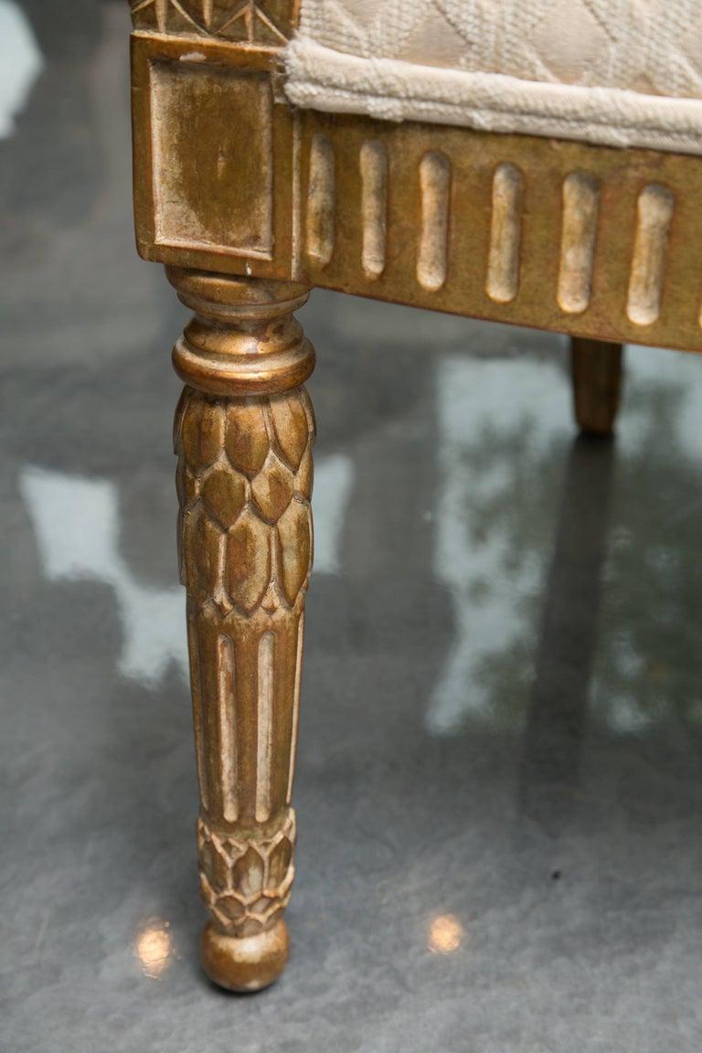 Pair of Stylized Louis XVI Gilt Armchairs 4