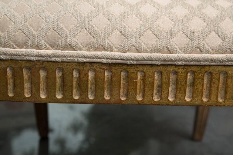 Pair of Stylized Louis XVI Gilt Armchairs 3