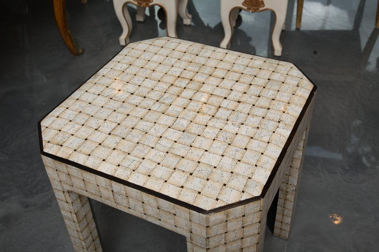 Other Unique Simulated Egg Shell Side Table For Sale