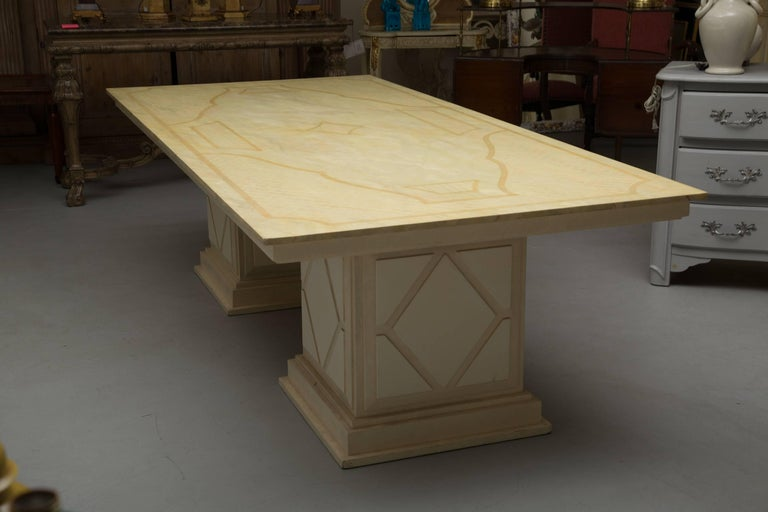 Other Custom Italian Faux Painted Dining Table For Sale