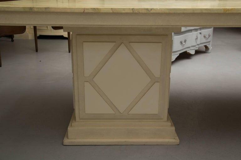 Hand-Crafted Custom Italian Faux Painted Dining Table For Sale