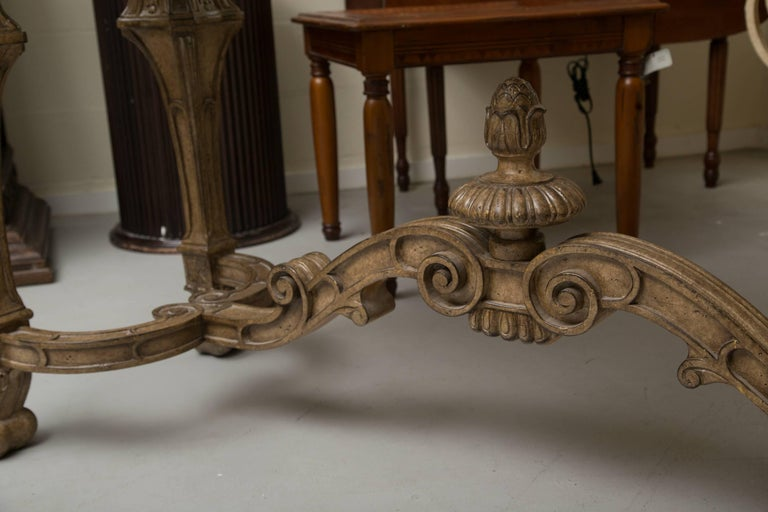 Italian Renaissance Style Console Table with Marble Top 5