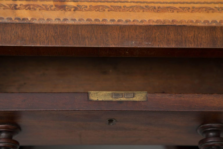 Stained 19th Century Mahogany Knee Hole Desk For Sale