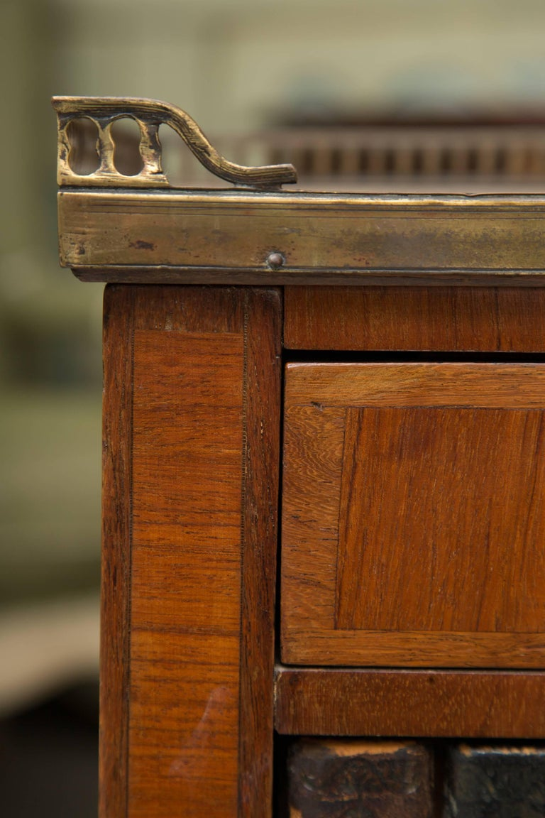 Pair of Mahogany Louis XVI Style Cabinets For Sale 1