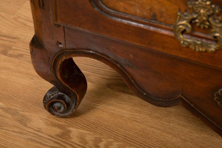 French 18th Century Figured Walnut Armoire 4