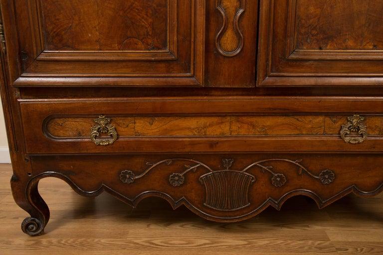 French 18th Century Figured Walnut Armoire 9