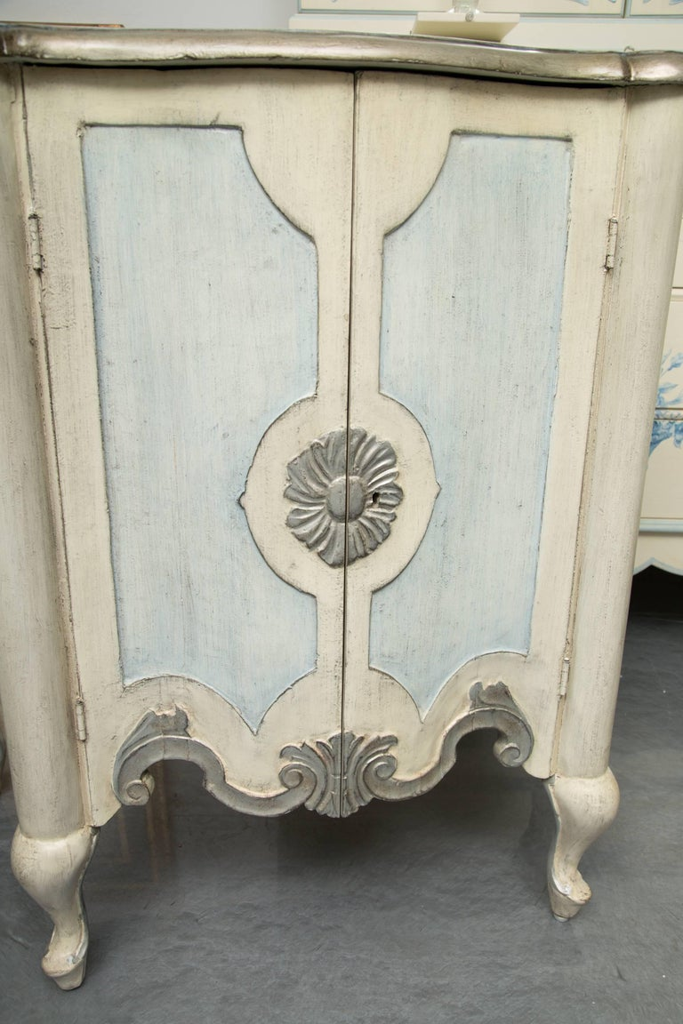 20th Century Pair of Serpentine Painted Venetian Cabinets For Sale