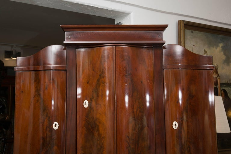 Mahogany 19th Century Danish Biedermeier Bureau Secretary Desk For Sale