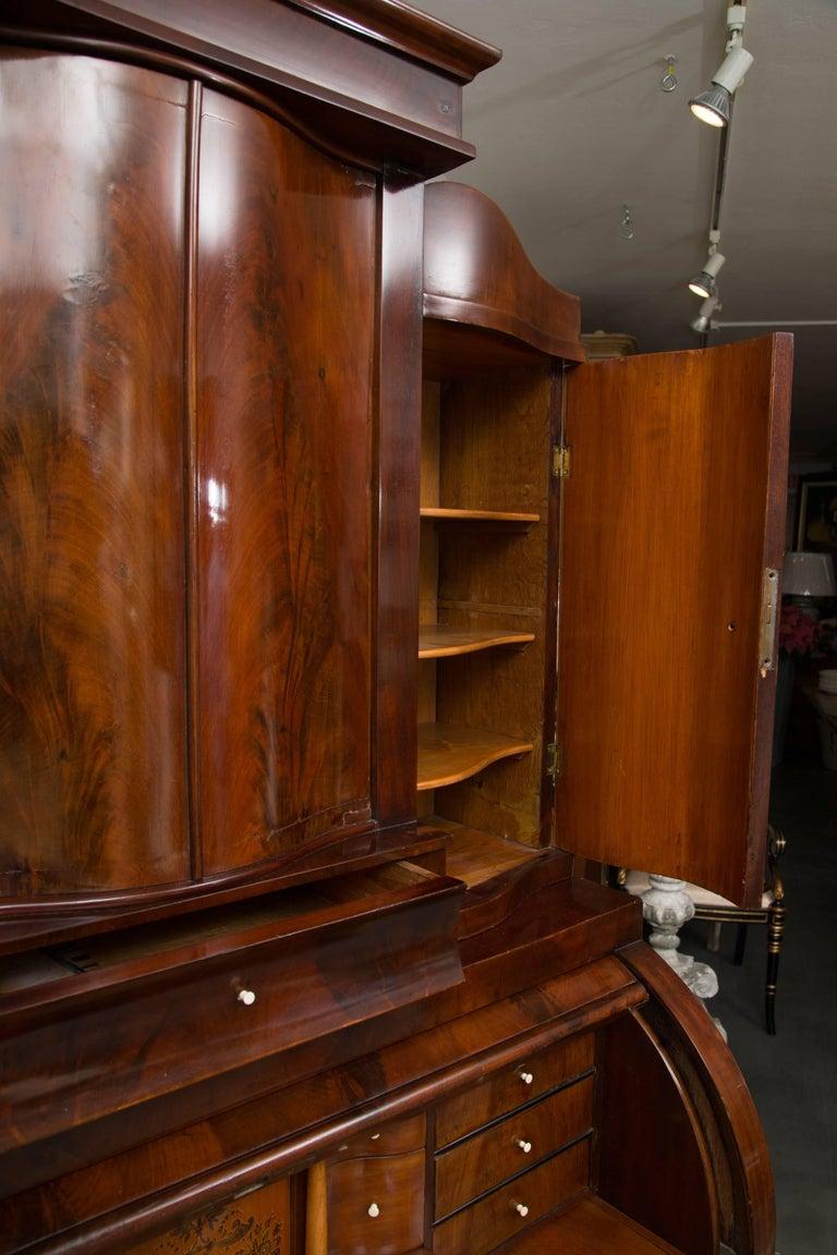 19th Century Danish Biedermeier Bureau Secretary Desk In Good Condition For Sale In WEST PALM BEACH, FL