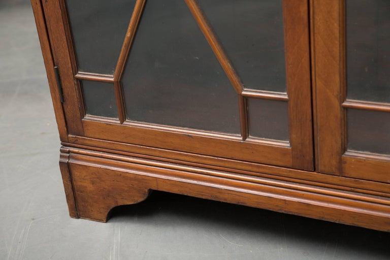 Mahogany 19th Century Dwarf English Bookcase For Sale