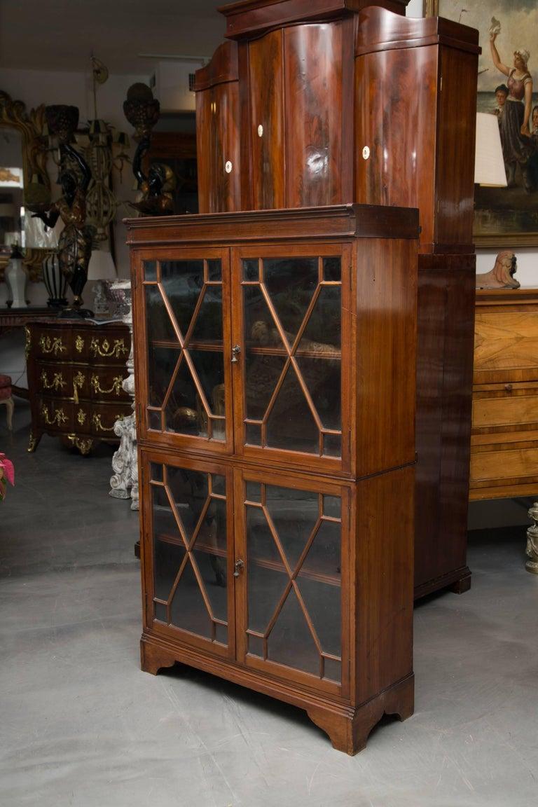 Georgian 19th Century Dwarf English Bookcase For Sale