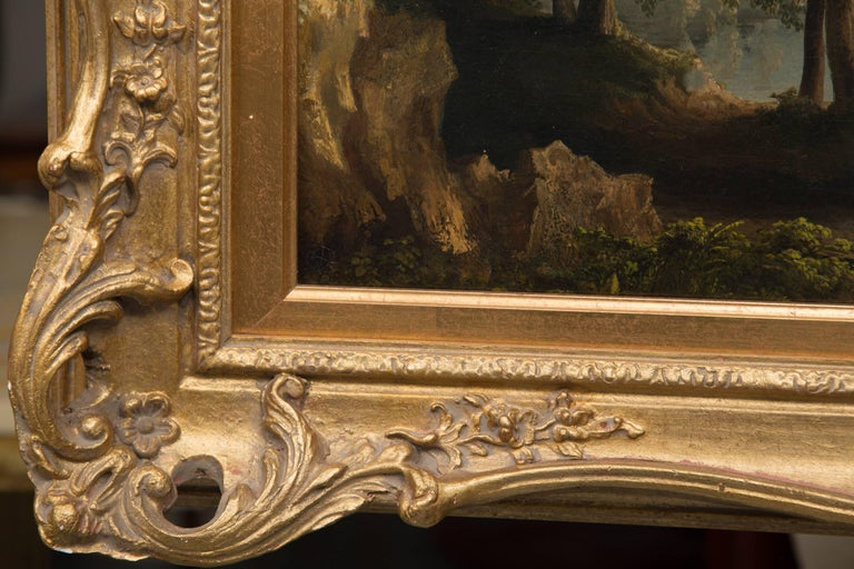 19th Century Oil on Canvas of Italian Landscape For Sale 4