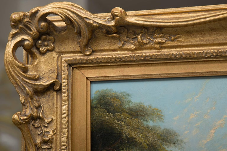 19th Century Oil on Canvas of Italian Landscape For Sale 3