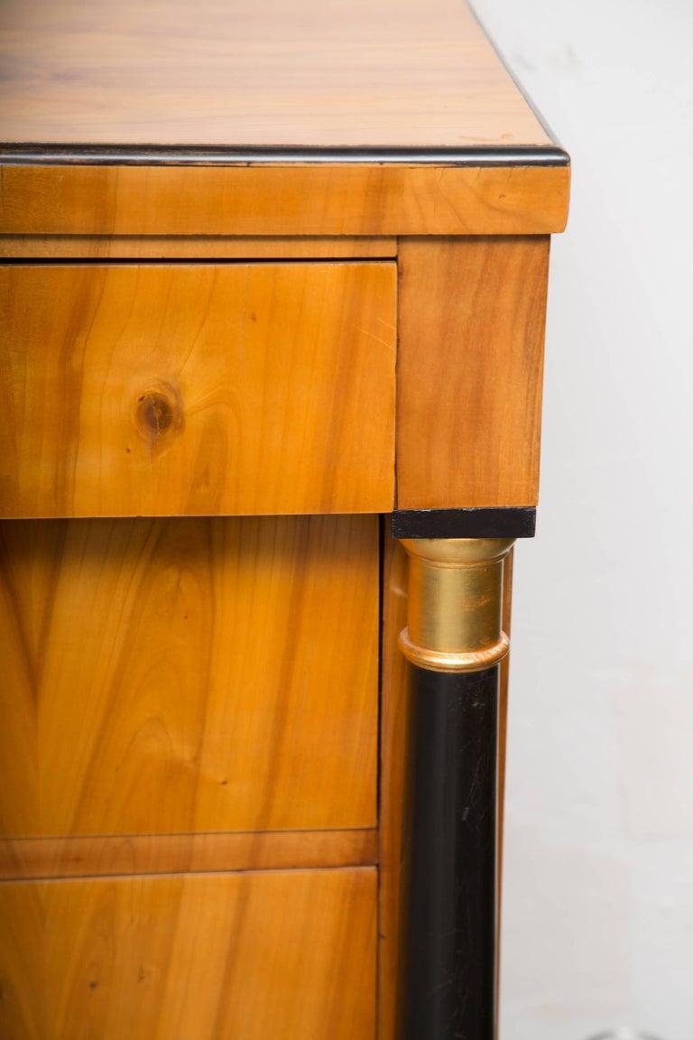 19th Century German Biedermeier Cherrywood Chest of Drawers For Sale 1