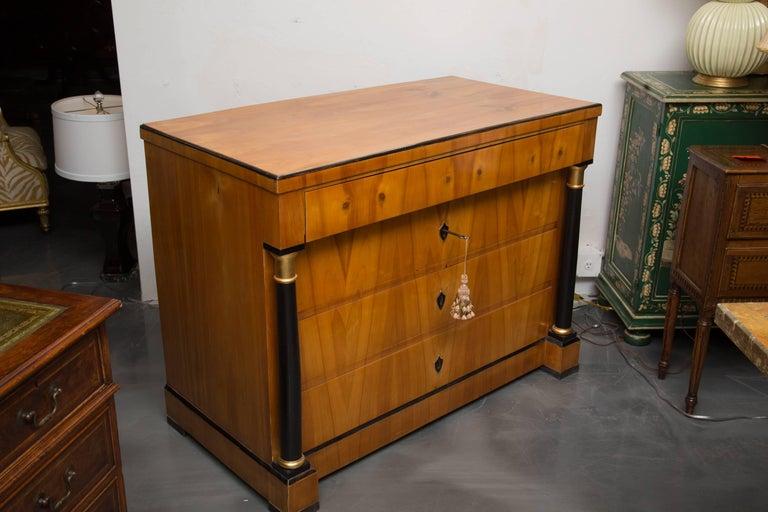 19th Century German Biedermeier Cherrywood Chest of Drawers For Sale 3