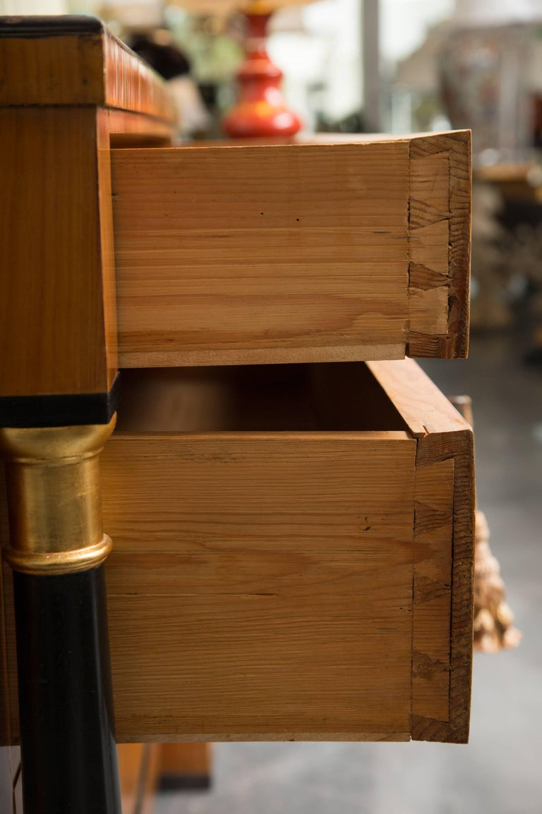 19th Century German Biedermeier Cherrywood Chest of Drawers In Good Condition For Sale In WEST PALM BEACH, FL