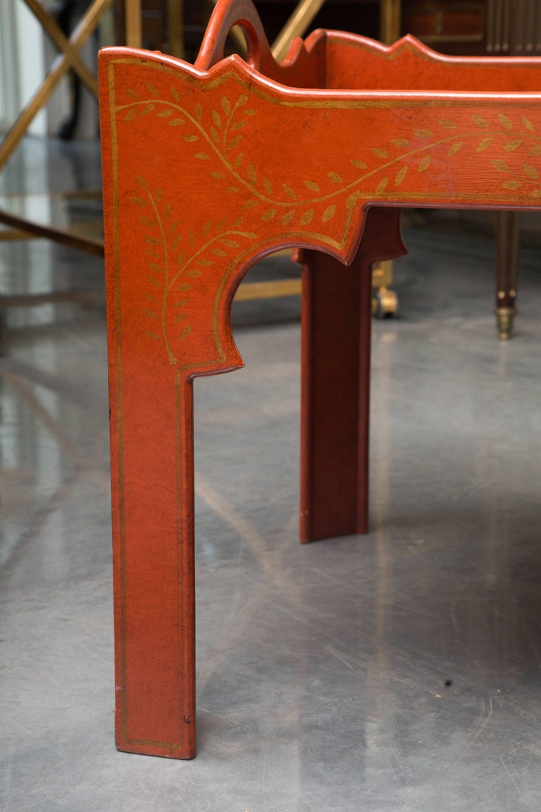 Wood Painted, Decorated and Lacquered Tray Table For Sale