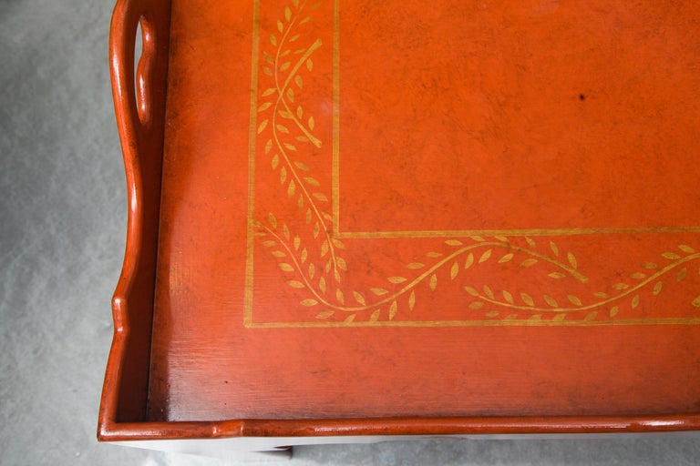 Painted, Decorated and Lacquered Tray Table For Sale 2