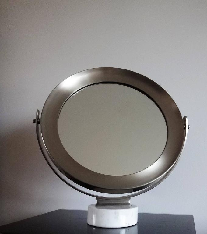 Sergio Mazza for Artemide White carrara marble Light patinated metal frame good vintage condition this item will ship from Paris, France Price does not include shipping and possible customs related charges.