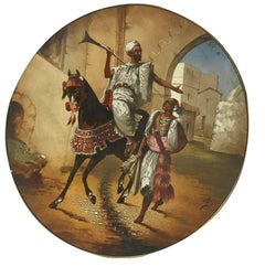 19th Century, Austrian Orientalist Plate, Made for the Islamic Market