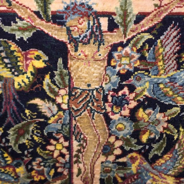 Hereke Silk Rug Youtube: Mid-20th Century Turkish Hereke Silk Hand-Knotted Carpet