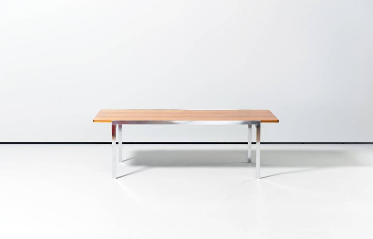rare arne jacobsen fritz hansen coffee table, 1963 teak mod. 3501