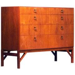 Børge Mogensen Teak Drawer Cabinet, Mod 232, CM Madsen for FDB Møbler, Denmark
