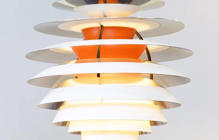 Danish Poul Henningsen PH Contrast Louis Poulsen Pendant Lightning  For Sale
