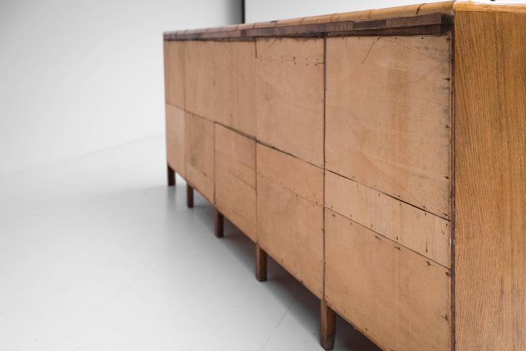 rattan multi drawer sideboard italian 1960s at 1stdibs. Black Bedroom Furniture Sets. Home Design Ideas