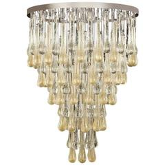 Italian Modern Murano Glass Chandelier or Flush Mount